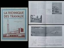 LA TECHNIQUE DES TRAVAUX n°9 1939 EXPOSITION DU PROGRES SOCIAL LILLE,GARE BRUGES