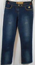 Womens' Apple Bottom Size 8  Boot Cut Factory Distressed Jeans? Yellow Appl
