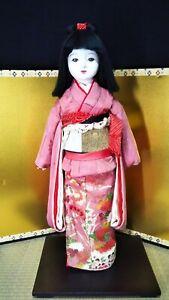 Vintage Japanese ichimatsu doll 23.5 inch 60cm in Kimono Lovely girl Figure