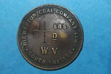 More details for south shields harton colliery 11lbs w.v (ref 139) very rare token