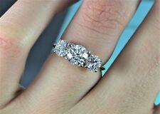 K Tiffany & Co 18K Yellow Gold Platinum Round 2.02ct Diamond Engagement Ring