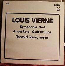 OPUS 3 LP 8205: LOUIS VIERNE Symphony No. 4 - TOREN, organ - OOP 1982 Sweden NEW