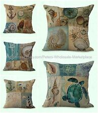 set of 5 costal beach marine seashell cushion cover home interior decorating