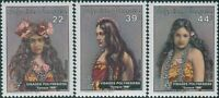 French Polynesia 1985 Sc#411-413,SG444-446 Polynesian Faces set MNH