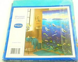Shower Curtain Dolphin Bay New Blue Size 70 Inches By 72 Inches Spring Homes