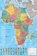 Africa Map Reference Poster Poster Print, 24x36