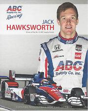 """2015 INDY 500 JACK HAWKSWORTH ENGLAND AJ FOYT RACING INDYCAR 8""""X10"""" HERO CARD !"""