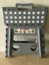 Folding Plastic Kitchen Step Stool w/ Handle - Adults/Kids 300 lbs Capacity