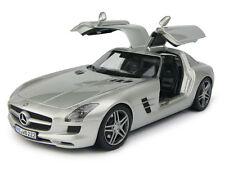 MINICHAMPS MERCEDES SLS AMG LIGHT GREY 1:18 (NEW EURO EDITION)*NICE*