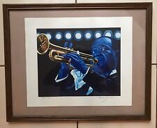 LOUIE ARMSTRONG ARTIST PROOF RARE 1/30  PRINT ARTIST SIGNED RICK GEISE ?