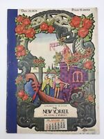 VINTAGE NEW YORKER MAGAZINE DECEMBER 29, 1934 WITH S. LIAM DUNNE SERENADE COVER