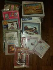 Lot of Crewel/Embroidery Kits 7 New-4 Opened or Preworked