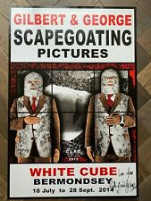 "hand signed GILBERT AND GEORGE poster 'CLAD"" / Scapegoating Pictures White Cube"