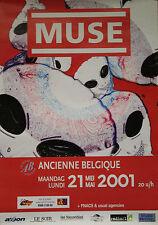 """""""MUSE (Concert ANCIENNE BELGIQUE)"""" Affiche originale 2001"""