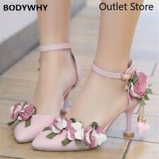 Woman  Pumps Shoes Pointed Toe Buckle Wedding Shoes High Heels Shoes Size 33-43