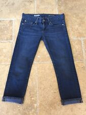 AG Adriano Goldschmied Dark Wash The Tomboy Crop Relaxed Straight Crop Jeans 25