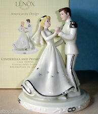Lenox Cinderella & Prince Love Wedding CAKE TOPPER Disney Figurine Platinum New