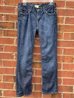 BANANA REPUBLIC WOMENS STRAIGHT LEG JEANS SZ 28/6 REGULAR BLUE DENIM JEANS