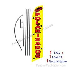Polarizados 15ft Feather Banner Swooper Flag Kit with pole+spike