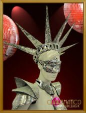 Showgirl's Cabaret Floorshow Mirror Tiled Statue of Liberty Crown Headdress