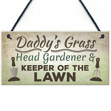 Daddy's Grass Novelty Garden Plaques Garden Shed Dad Father's Day Gifts For Him