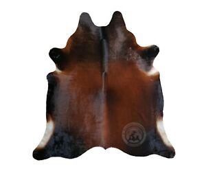 Genuine Cowhide Rug Mahogany Reddish 5ft x 6ft - 150cm x 180cm - Luxury Cowhides