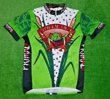 Primal Cycling Jersey Men's Green Frog Bar Hopper Size L Made In USA CoolMax SS