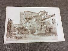 1885 originale architetti Print-Lucca-Cattedrale Cattolica Romana-Italia