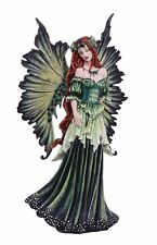 """Large 18"""" Tall Fantasy Lady of the Forest Fairy Decorative Statue by Artist Amy"""