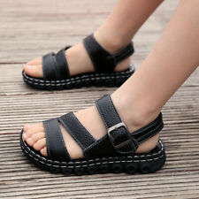 26-41 Kids Boys Open Toe Buckle Sports Sandals Shoes Running Anti-Slip Soft Sole