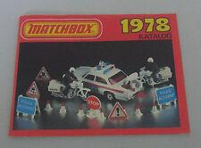 Matchbox 1978 Katalog