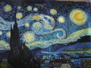 Van Gogh Starry Night reproduction 30x20inches oil  Painting. Framing available