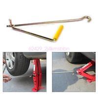 Steel Scissor Jack Handle Crank Tool Car Van Garage Tire Wheel Lug Wrench