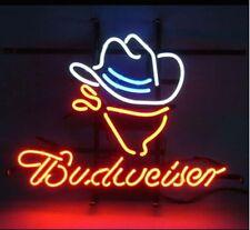 "Budweiser Cowboy Beer Pub Bar Neon Sign  17""x14"" BE298S"