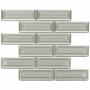 Modern 2X6 Beveled Subway Taupe Beige Glossy Molded Glass Mosaic Tile MTO0513