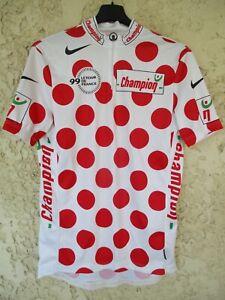 Maillot à pois Tour de France 1999 VIRENQUE shirt jersey maglia trikot NIKE XL