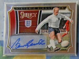 BOBBY CHARLTON  2015-16 Panini Select Soccer Historic Signatures 005/125 England