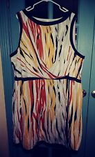 NWOT DKNY Woman dress SIZE 22w 3X BLACK WHITE YELLOW BEAUTIFUL