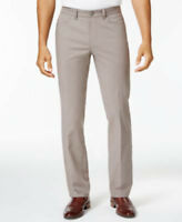 Alfani Mens Luxe Stretch Chio Dark Sand Pants Slacks