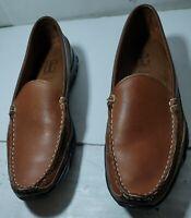 "Men's Allen Edmonds ""Boulder"" Casual Loafers Shoes Brown Leather Size 9.5 B"