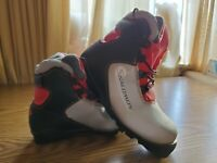 Salomon SNS Profil RED GREY Junior Cross Country SKI Boots size 2.5