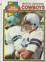 FREE SHIPPING-FAIR-1979 Topps #86 Butch Johnson Cowboys PLUS BONUS CARDS