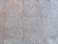 Beautiful Fortuny LIKE Fabric by John Robshaw in Blue with Gold 6+ Yards