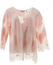 Linea Louis Dell'Olio Inset Lace Top Perfectly Pink 20W NEW A351465