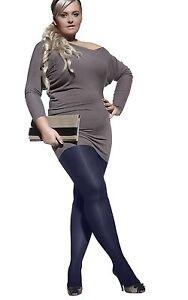 Plus size opaque plain pantyhose tights