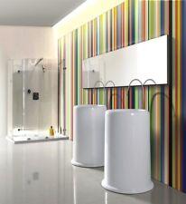 "Bathroom Pedestal Sink - Single Pedestal Sink - Modern Sink - Riccio - 24"""