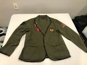 NWOT $398.00 Polo Ralph Lauren Mens Chico Graphic Chore Jacket Olive LARGE
