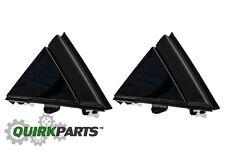 12-17 FIAT 500 GLOSS BLACK LEFT & RIGHT DOOR MIRROR FLAG COVER MOLDINGS OEM