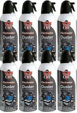 8 Pack Dust Off Falcon Compressed Air Gas Duster 8 Cans Ozone Safe NEW SEA