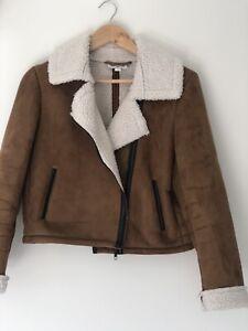Lee Cooper Fur Suede Jacket Women's Size 14 Vintage Style